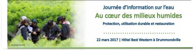 Journée d'information sur l'eau au Centre-du-Québec